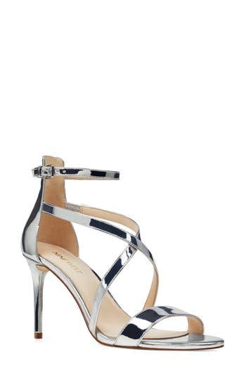 Women's Nine West Retail Therapy Strappy Sandal, Size 8.5 M - Metallic -  094937725983