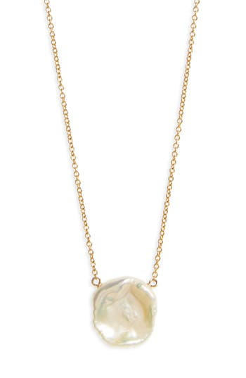 Women's Dogeared Reminder - One In A Million Keshi Pearl Pendant Necklace