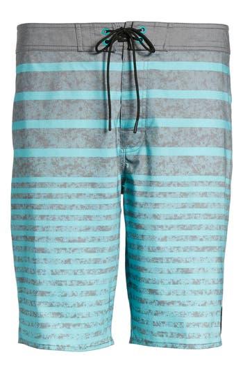 Men's Rvca Stack 'Em Swim Trunks, Size 32 - Blue/green
