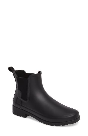 Hunter Refined Chelsea Boot, Black