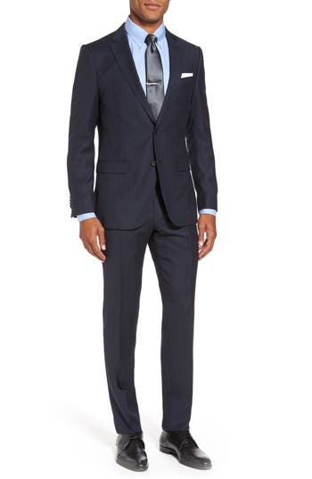 Men's Hugo Novan/ben Trim Fit Stripe Wool Suit