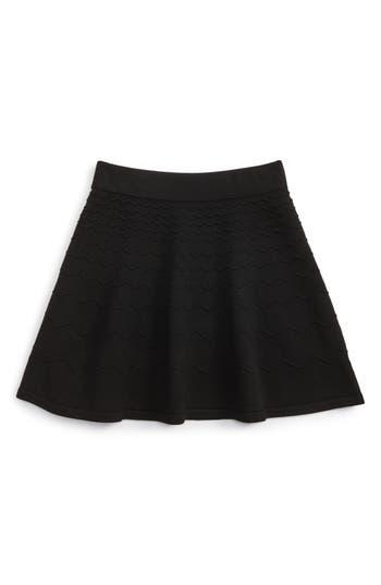 Girl's Milly Minis Chevron Skirt, Size 6-7 - Black