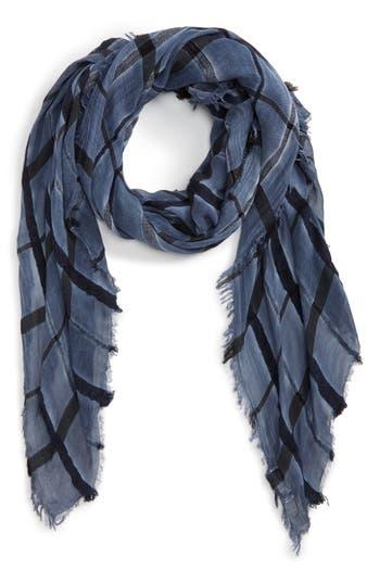 Women's Sole Society Windowpane Check Scarf, Size One Size - Blue