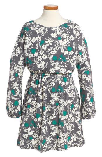 Girl's Tucker + Tate Cold Shoulder Print Dress