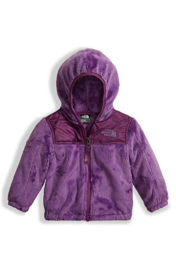 Infant Girl's The North Face 'Oso' Fleece Hooded Jacket, Size 0-3M - Purple