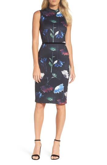 Women's Forest Lily Floral Sheath Dress