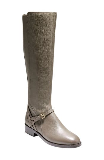 Cole Haan Pearlie Tall Boot Wide Calf- Grey