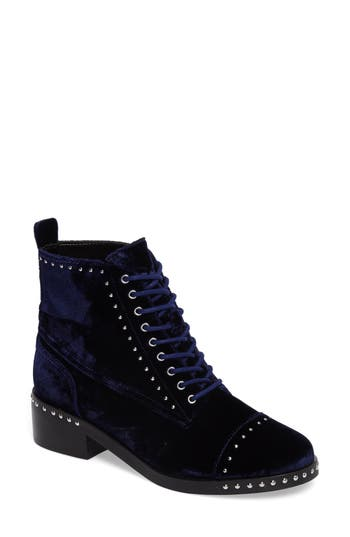 Marc Fisher Ltd Cassidey Studded Cap Toe Bootie, Blue