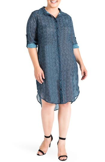 Plus Size Women's Standards & Practices Millicent High/low Shirtdress