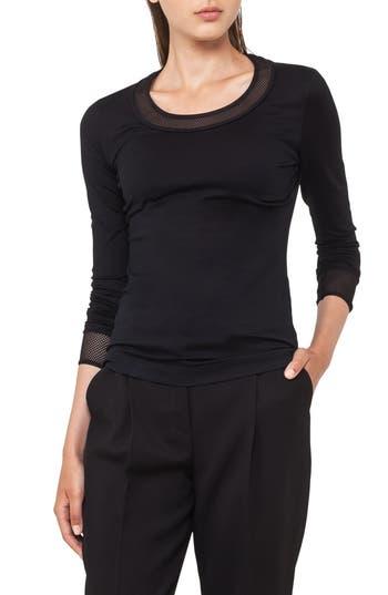 Women's Akris Punto Mesh Detail Jersey Top