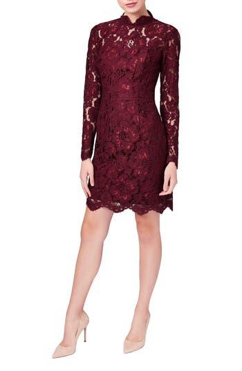 Women's Betsey Johnson Lace Sheath Dress, Size 4 - Red