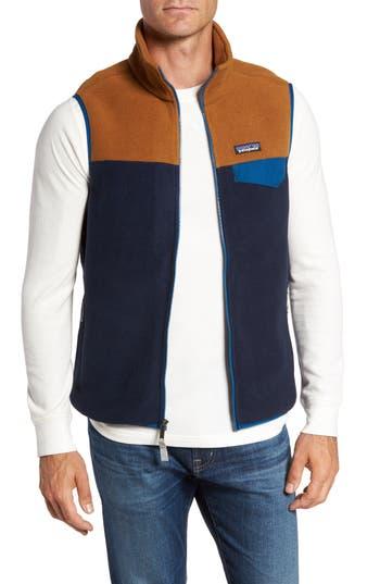 Men's Patagonia Synchilla Snap-T Zip Fleece Vest, Size XX-Large - Blue