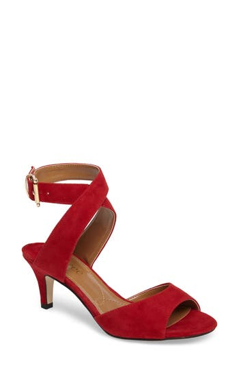 Women's J. Renee 'Soncino' Ankle Strap Sandal, Size 9 AA - Red