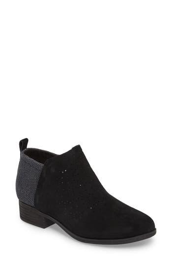 Women's Toms Deia Zip Bootie, Size 5.5 M - Black