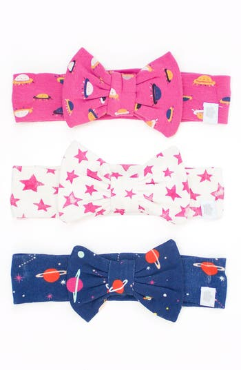 Rosie Pope 3-Pack Bow Headbands, Size One Size - Pink