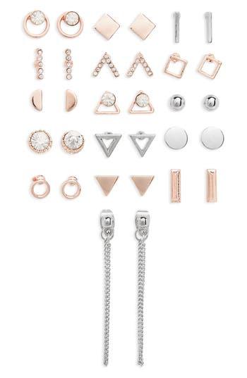 Women's Topshop Mega Pack Geometric Earrings (16 Pairs)