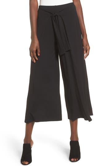 Women's Soprano Tie Front Wide Leg Pants