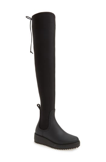 Jeffrey Campbell Monsoon Over The Knee Platform Rain Boot, Black