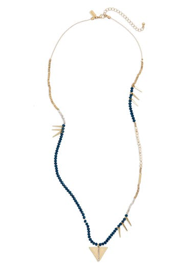 Women's Canvas Jewelry Beaded Spear Pendant Necklace