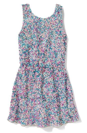 Girl's Peek Zoe Sequin Dress, Size S (4-5) - Blue