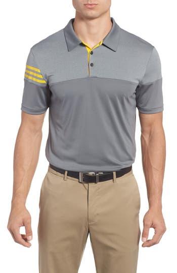 Men's Adidas Regular Fit 3-Stripes Golf Polo