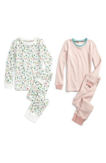 Girl's Mini Boden 2-Pack Fitted Two-Piece Pajamas