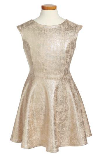 Girl's Un Deux Trois Cap Sleeve Party Dress