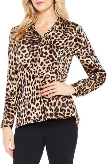 Women's Vince Camuto Leopard Print Blouse