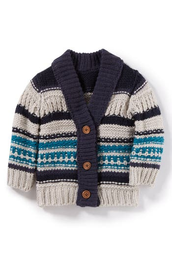 Infant Boy's Peek Ollie Knit Cardigan Sweater