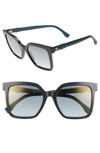 Women's Fendi 54Mm Square Sunglasses - Grey