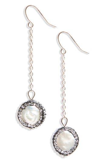 Women's Panacea Freshwater Pearl & Crystal Drop Earrings