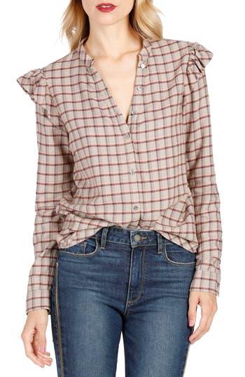 Women's Paige Jenelle Ruffle Plaid Shirt