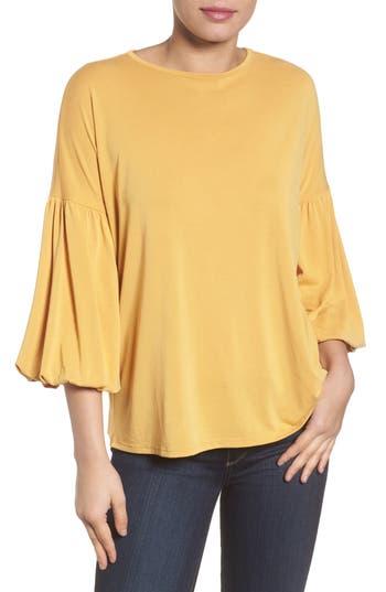 Women's Caslon Blouson Sleeve Tee, Size X-Small - Yellow