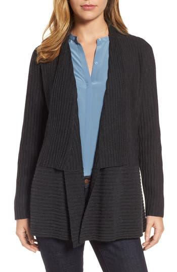 Women's Eileen Fisher Ribbed Merino Wool Long Cardigan