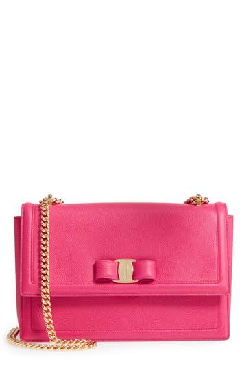 Salvatore Ferragamo Medium Leather Shoulder Bag -