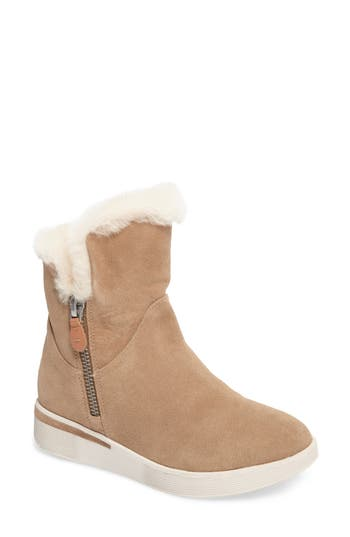 Gentle Souls Hazel Levitt Genuine Shearling Lined Boot- Brown