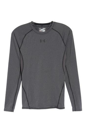 Under Armour Heatgear Compression Fit Long Sleeve T-Shirt, Grey