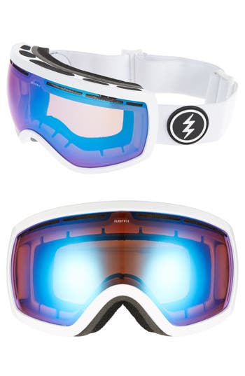 Women's Electric Eg2.5 Snow Goggles - Gloss White/ Blue Chrome