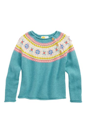 Girl's Mini Boden Chunky Knit Jumper Sweater, Size 3-4Y - Green