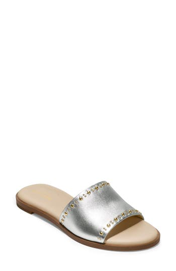 Cole Haan Anica Slide Sandal B - Metallic