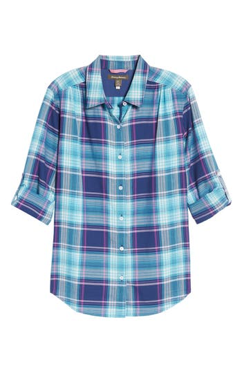 Women's Tommy Bahama Play It Again Plaid Long Sleeve Shirt