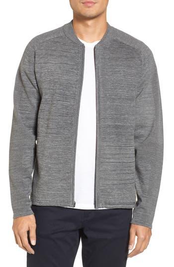 Zella Tech Sweater Baseball Jacket, Grey