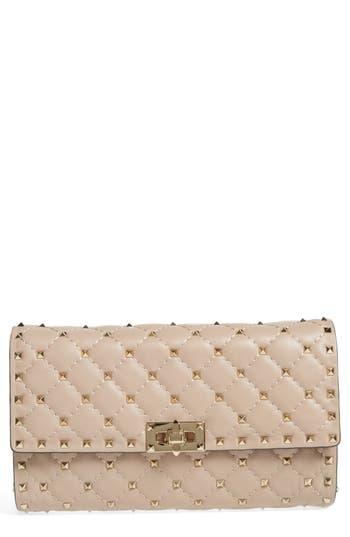 Valentino Garavani Rockstud Matelassé Quilted Leather Shoulder Bag - Pink