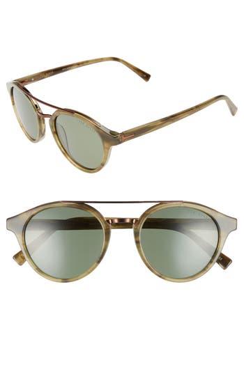 Men's Ted Baker London 51Mm Polarized Round Sunglasses - Olive