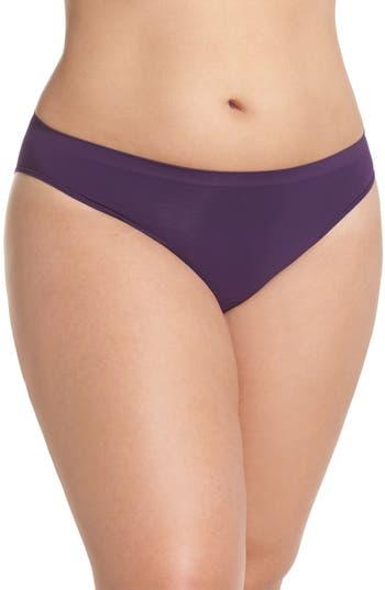 Plus Size Women's Halogen Seamless Bikini, Size 1X - Purple