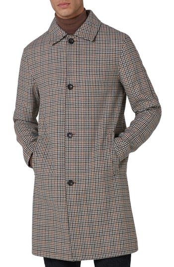 1950s Style Mens Clothing Mens Topman Houndstooth Overcoat $100.00 AT vintagedancer.com
