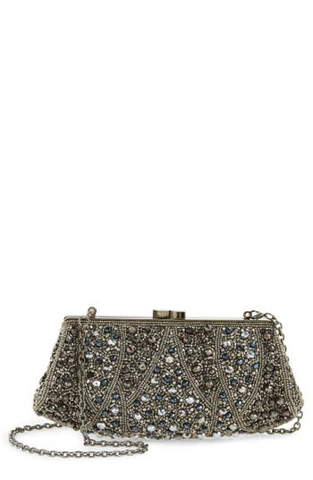 Nordstrom Beaded Rivoli Clutch - Metallic