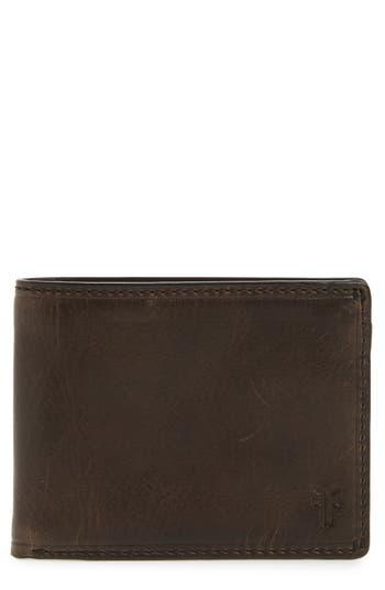 Frye Logan Leather Wallet - Grey