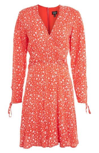 Women's Topshop Rocket Man Tea Dress, Size 2 US (fits like 0) - Red
