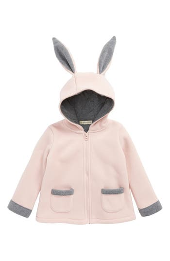 Toddler Girl's Tucker + Tate Bunny Ear Fleece Hooded Jacket